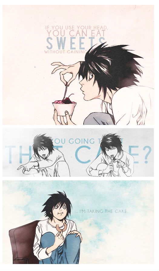 If you use your head... L / L Lawliet / Ryuzaki / Death Note From http://pelagie-childie.tumblr.com/post/78379093739/sexpai-even-during-the-investigation-there-was