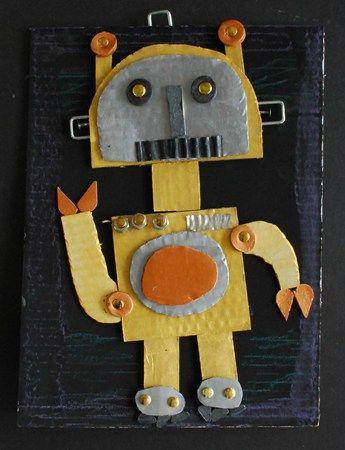 Robot en papiers/cartons