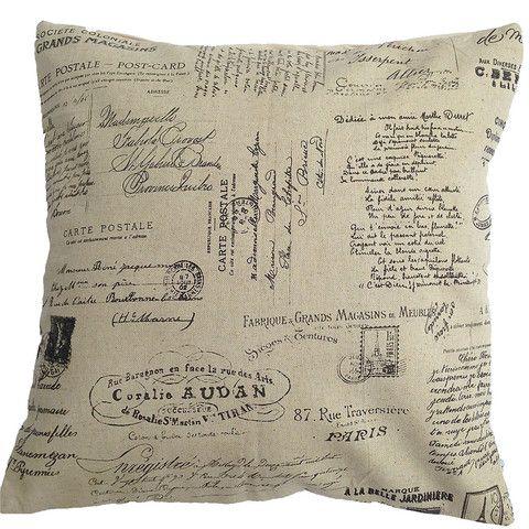 Cushion cover vintage mail script 40cm 50cm 60cm 30cm from $9.90