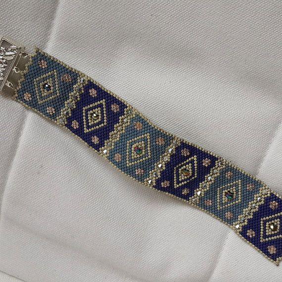 miyuki blue bracelet by gunselstyle on Etsy