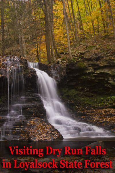Dry Run Falls in Loyalsock State Forest, Sullivan County, Pennsylvania - http://uncoveringpa.com/visiting-dry-run-falls-loyalsock-state-forest