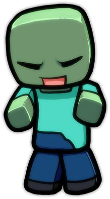 Minecraft Cartoon Zombie