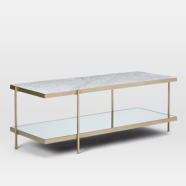 Avery Coffee Table Marble Light Bronze