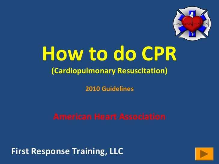 How to do CPR - great resource here!