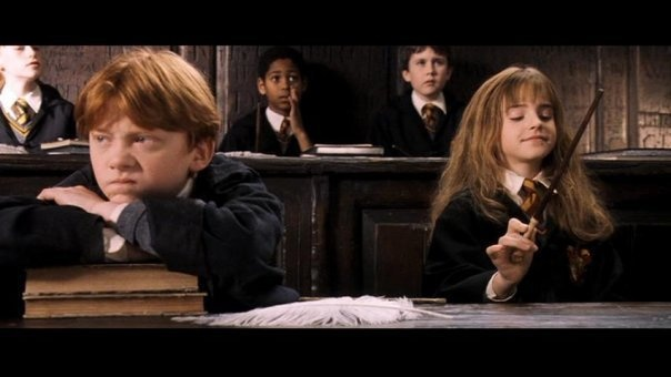 Ron and Hermione.  At the beginning.  Haha.
