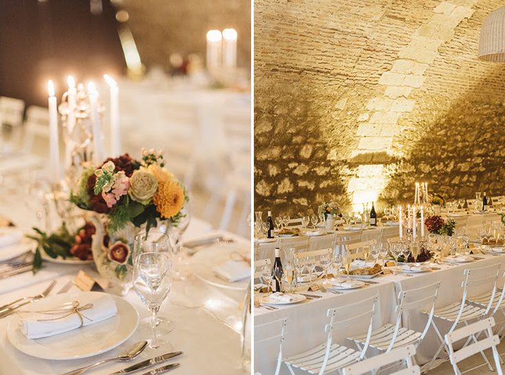 Table decorations in the Cave for Laura and Ken. September 2015