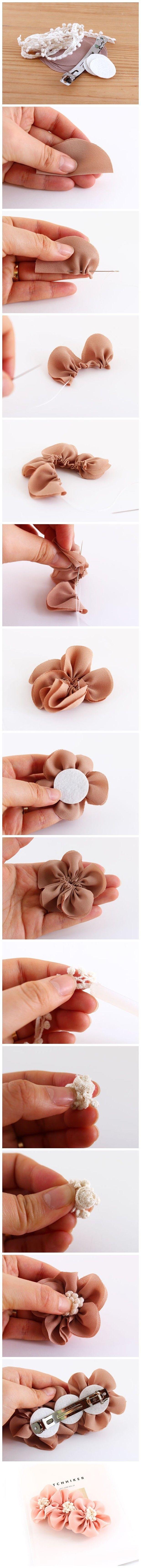 Fabric handmade DIY hair accessories