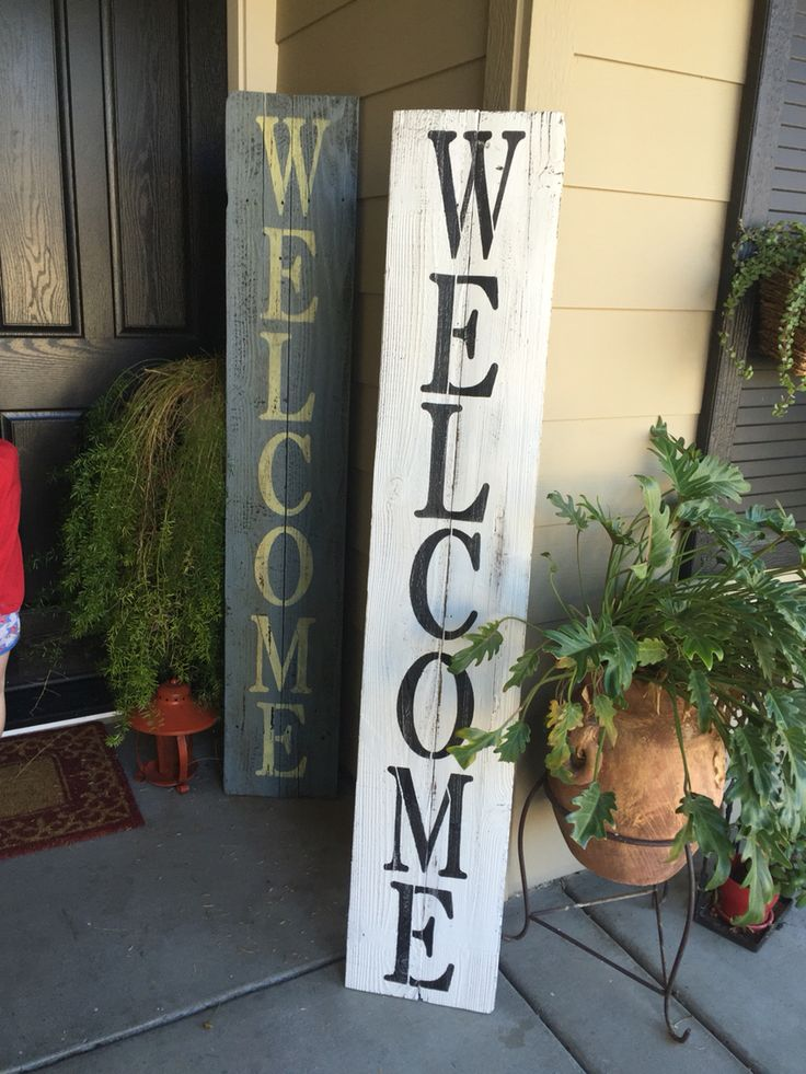 Welcome Signs From Reclaimed Wood Porch Signs Wooden