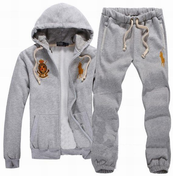 Polo Ralph Lauren Hombres Tracksuit Gris/Amarillo  I MUST HAVE THIS!