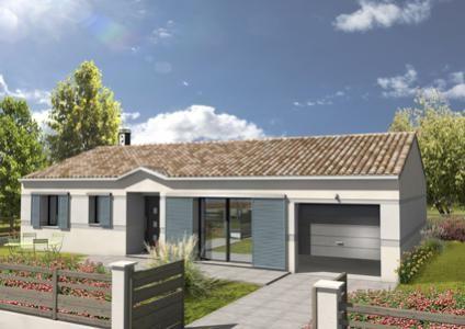 Modèle et plan de maison Adagio avec Porche rentrant par le constructeur MAISONS CIV