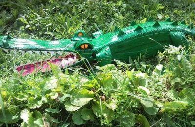 Дом, сад, дача. Поделки из шин своими руками. Крокодил.
