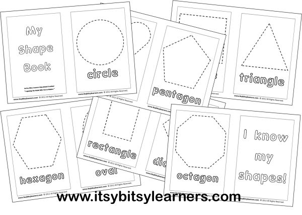 Learning My Shapes: My Shape Book