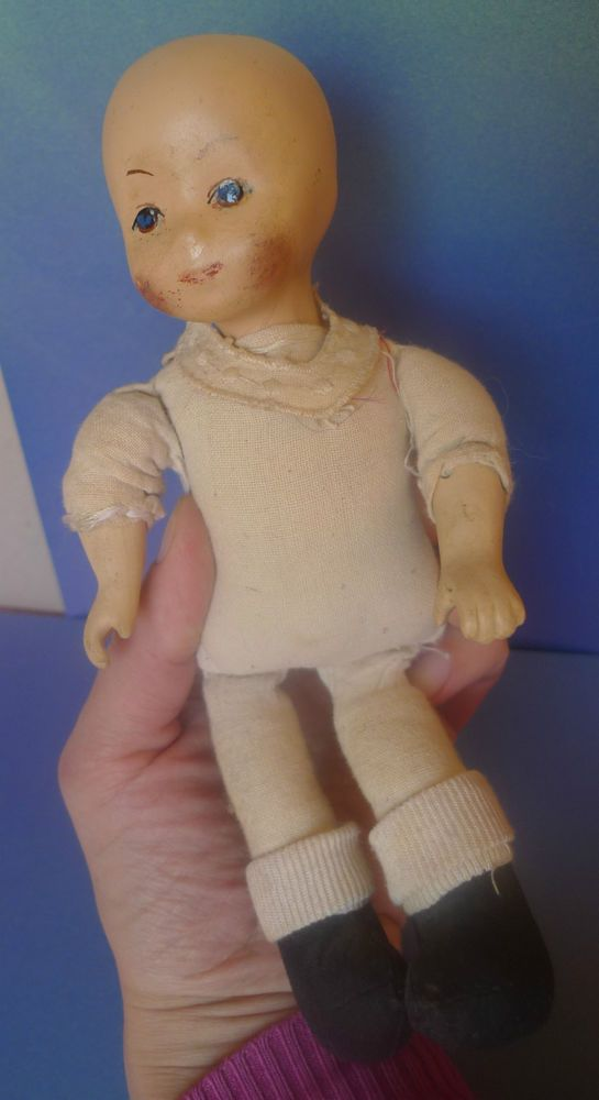 Old Collectibles Vintage Toy Porcelain Doll Pups Baby Doll #Unbranded #Dolls