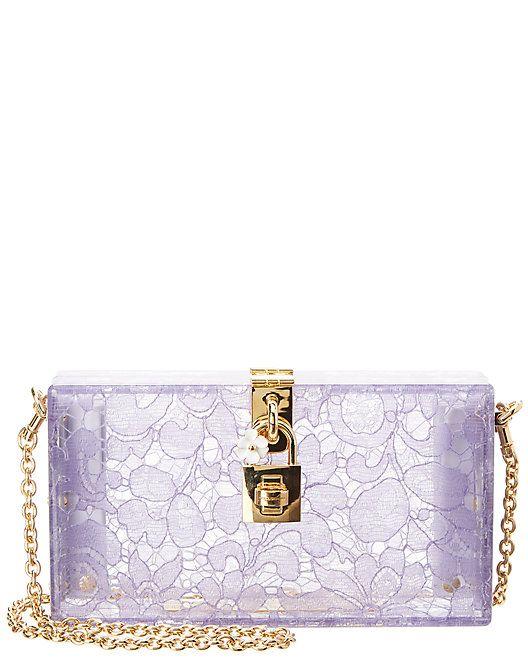 47dd6b57ce Dolce & Gabbana Dolce Plexiglass & Lace Box Clutch #Plexiglass, #Gabbana, # Dolce | Women Fashion | Fashion, Rue la la, Boutique