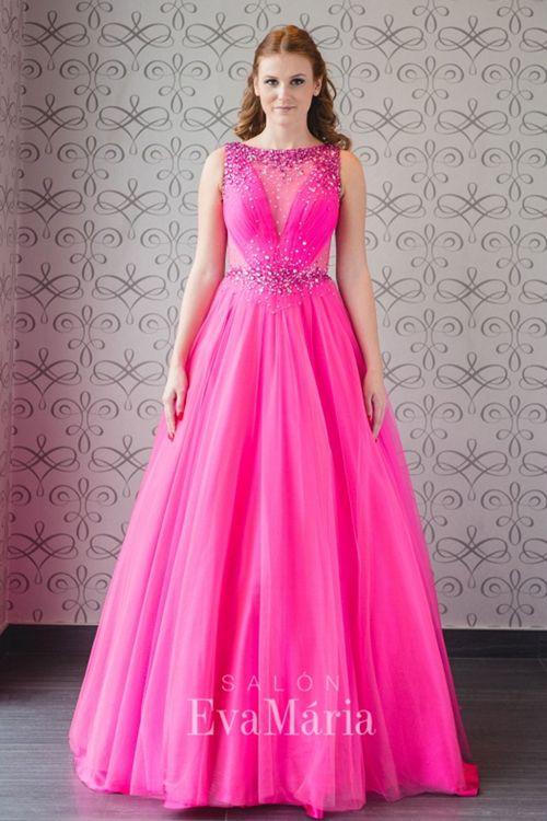 Ružové princeznovské šaty na reprezentačný ples