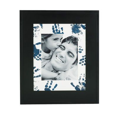 Frame with Hand Print Mat  Michaels.com  paint hand with paint & print onto mat  repeat until desired look is accomplished
