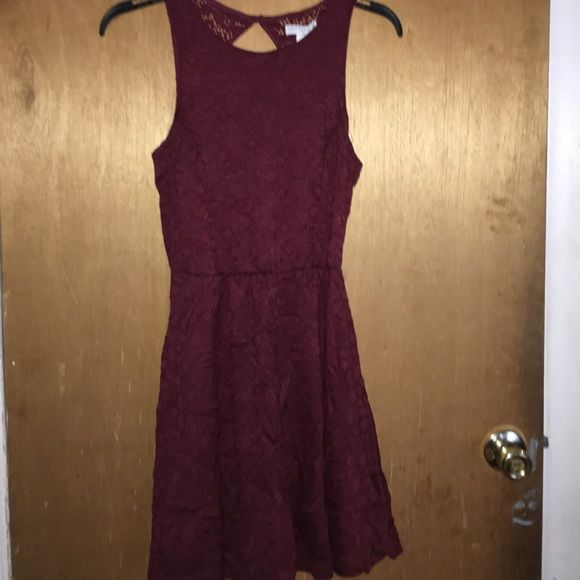 MAROON SKATER DRESS Never worn! With a little open back Cotton On Dresses Mini