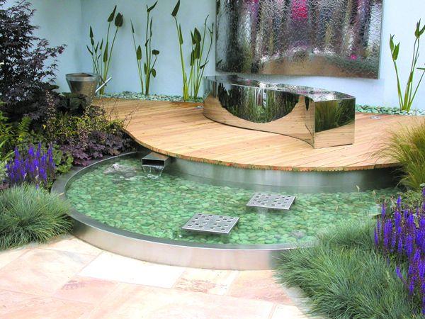 Best 25 modern pond ideas on pinterest garden stream for Modern pond design