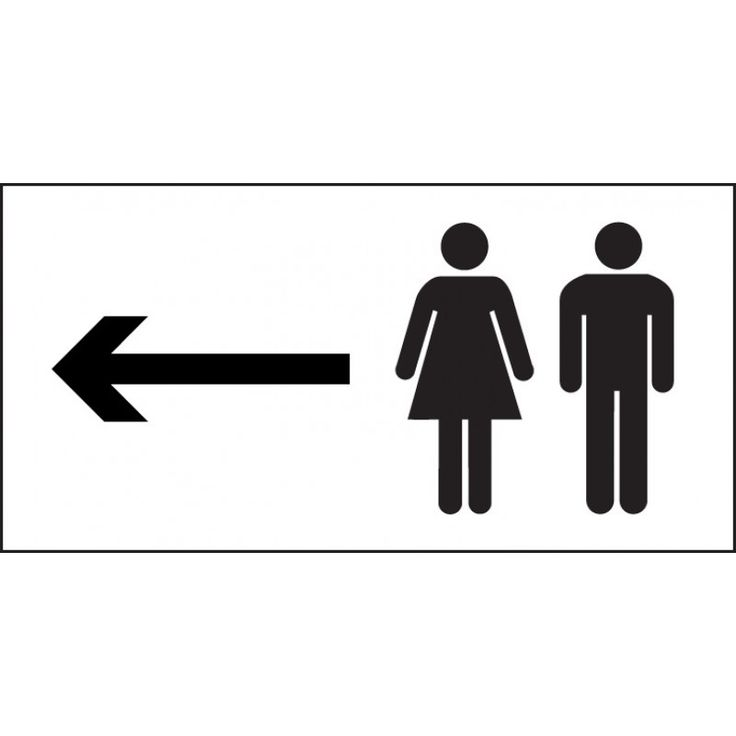 Man and ladies toilet symbol sign with arrow left   300mm x 150mm   Self  Adhesive. The 25  best Toilet symbol ideas on Pinterest   Man wc  Bathroom