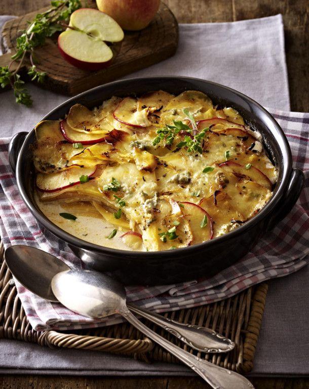 Unser beliebtes Rezept für Steckrüben-Kartoffel-Gratin mit Apfelscheiben und Gorgonzola und mehr als 55.000 weitere kostenlose Rezepte auf LECKER.de.
