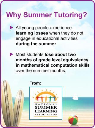Why Summer Tutoring?