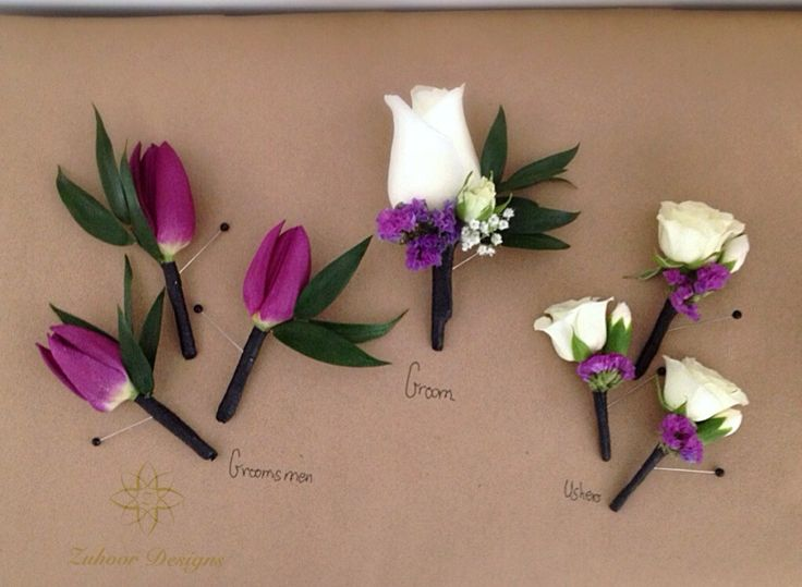 Wedding party boutonnieres