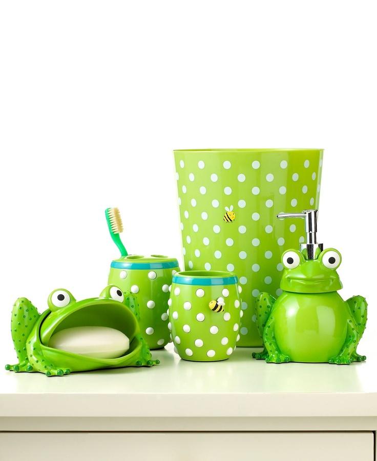 59 best children 39 s bath accessories images on pinterest for Frog bathroom ideas