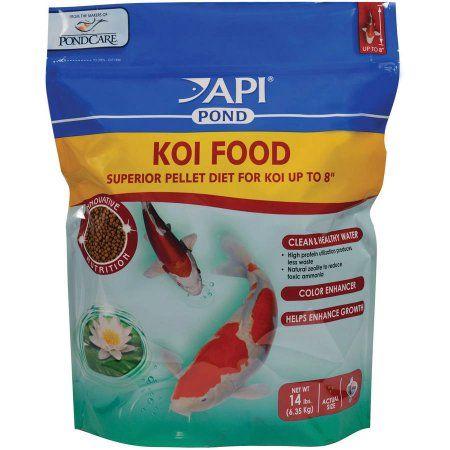 Api pond koi food superior pellet diet koi and koi fish food for Walmart fish food