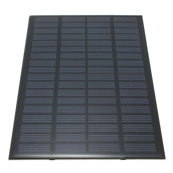Haute qualité 18 V 2.5 W Polycristallin Stockées Energy Panneau Solaire Module Système Solaire Cellules Chargeur 19.4x12x0.3 cm