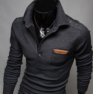 Men's Classy Long Sleeve Polo – 3 Colors – Nieves Ramirez