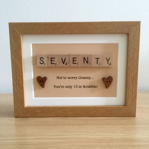 Scrabble Frame Birthday Gift / Present 30th 40th 50th 60th 70th 80th 90th 100th   Other Celebrations & Occasions   Celebrations & Occasions - Zeppy.io