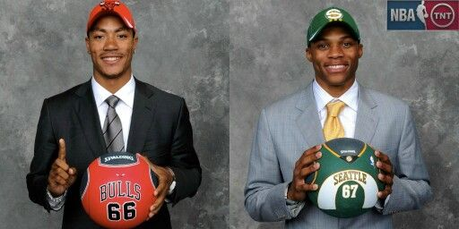 Two lightning bolts from the 2008 Draft, Derrick Rose and Russell Westbrook.