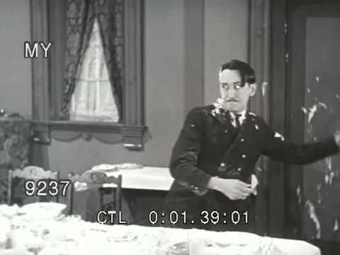 Stock Footage - Vintage Pie Fight Between Cook and Military Officer - 1900s - YouTube
