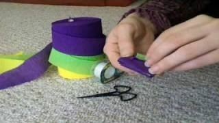 How to Make a Woven Crepe Paper Streamer Garland, via YouTube.