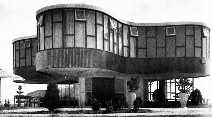 Ariston Hotel, Mar del Plata, Argentina. built: 1948. Built by Marcel Breuer with Carlos Coire and Eduardo Catalano