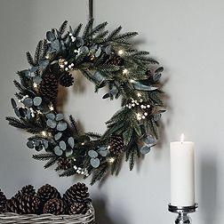 Fir & Snowberry Hanging Wreath