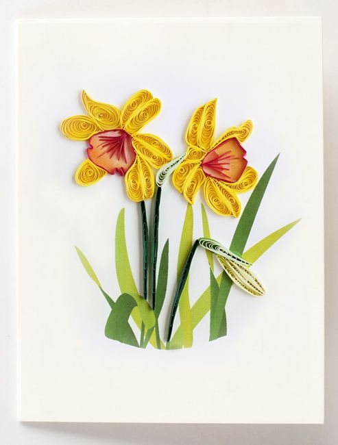 Quilled daffodil flowers