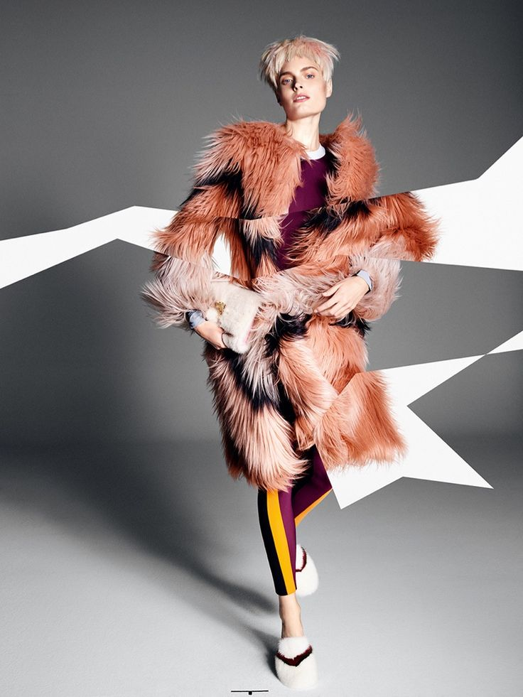Agnete Hegelund Poses in Fur Styles for Glamour Italy