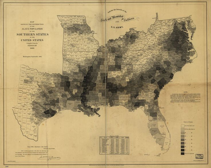 This Map Made By The U S Coast Survey In 1861 Using Census Data From