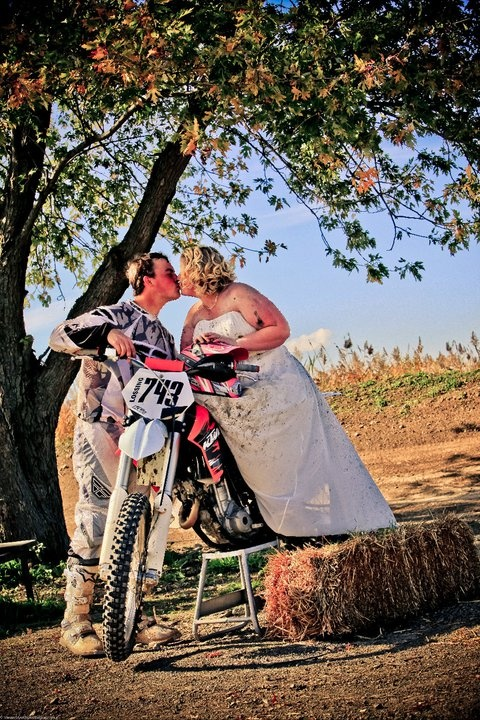 Dirt bike trash the dress if i wasn 39 t trying to resell my for Resell your wedding dress