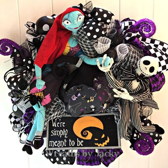 Jack+Skellington+Wreath+Jack+Sally+Skellington+Wreath