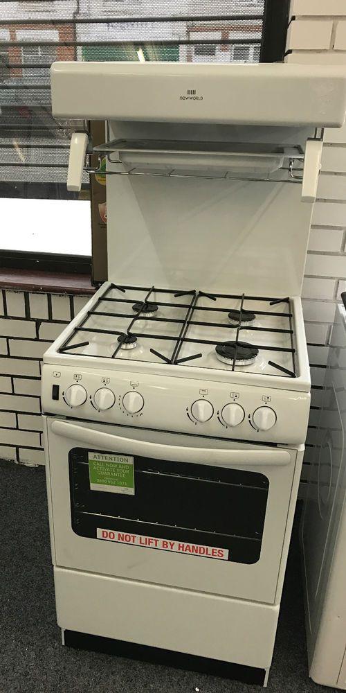 NEW WORLD 55cm eye level Gas Cooker in White  NW55THLG