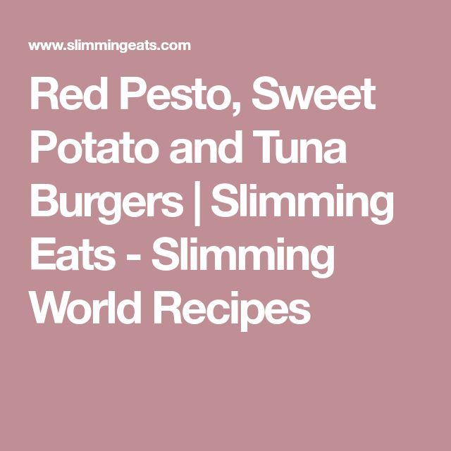 Red Pesto, Sweet Potato and Tuna Burgers   Slimming Eats - Slimming World Recipes