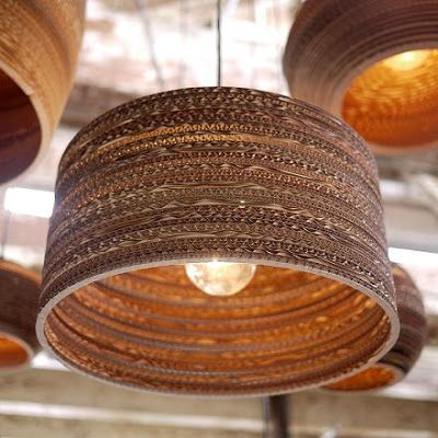 How To Recycle: Recycled Corrugated Cardboard LampShades