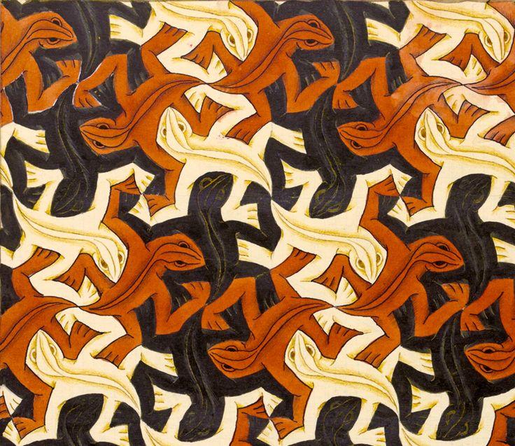 MC Escher Lizard Pattern Pinterest Mc Escher Lizards And Patterns