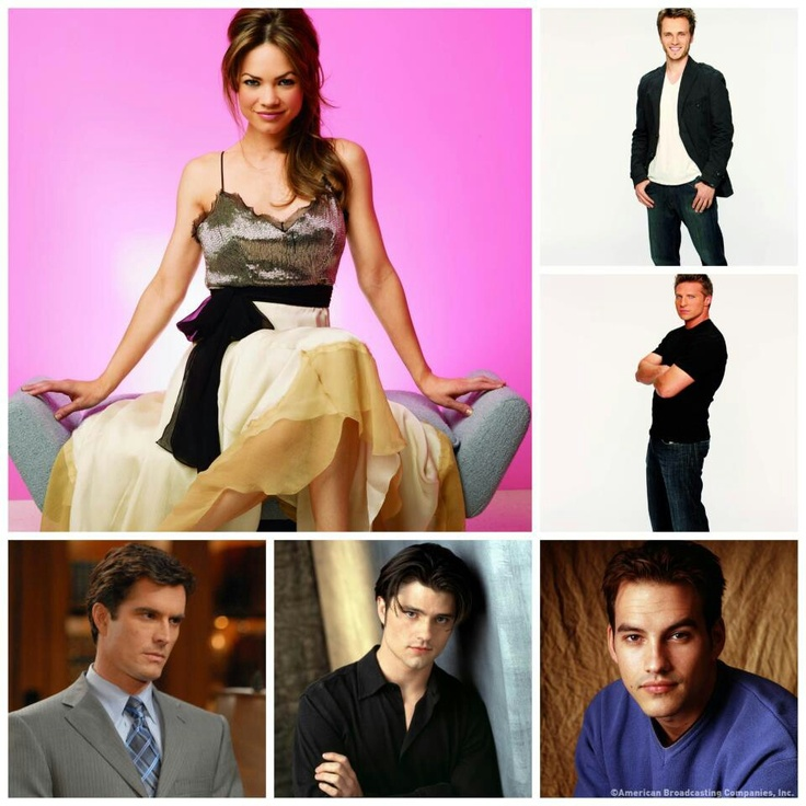 GH Elizabeth with her many men over the years Lucky, Jason, Nicholas, Zander and Ric. Missing is A.J