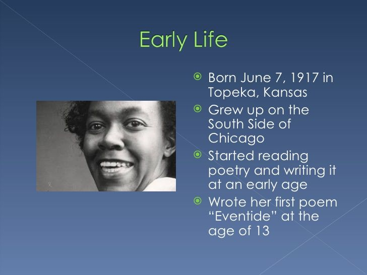 gwendolyn brooks writing style African-american poets past and present: a historical  of jazz and spirituals into his writing style  students to learn about the poet gwendolyn brooks.