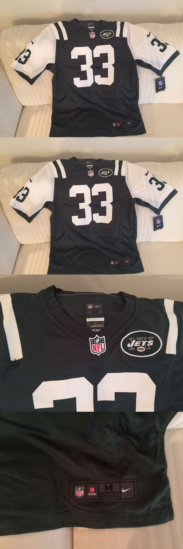 Football-NFL 206: Nwt Men S Medium Nike On Field Jersey New York Jets 33 Jamal Adams -> BUY IT NOW ONLY: $50 on eBay!
