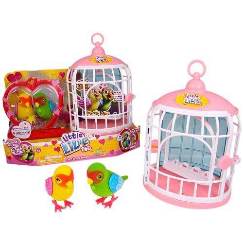 Little Live Pets Bird Cage Love Birds Double Pack Pet