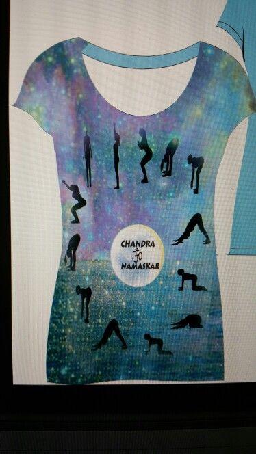Chandra namaskar tshirt
